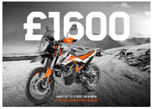KTM 790 ADVENTURE R OFFER - Save £1,600