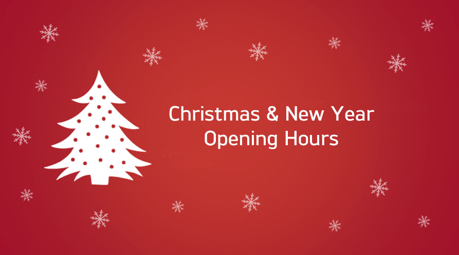 Christmas & New Year Opening Times 2020