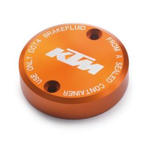 KTM Anodised Brake Fluid Reservoir Cover - Orange