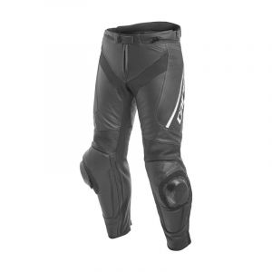 Dainese Delta 3 Leather Motorcycle Jeans - Black/White