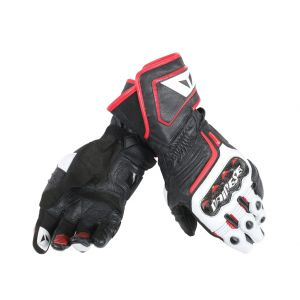Dainese Carbon D1 Long Gloves - Black / White / Red