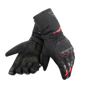 Dainese Tempest D-Dry Long Gloves - Black / Red