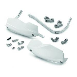 KTM 125/390 Duke  Aluminium Handguards - White
