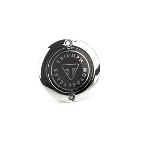 Triumph Chrome Clutch Badge - Street Twin / Scrambler / Speedmaster / T120 / Thruxton