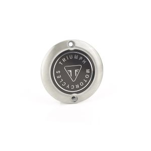 Triumph Brushed Clutch Badge - Street Twin / Scrambler/ Bobber / T100 / T120 / Thruxton