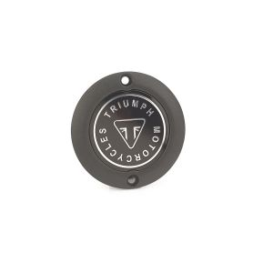 Triumph Black Clutch Badge - Street Twin / Scrambler/ Bobber / T100 / T120 / Thruxton