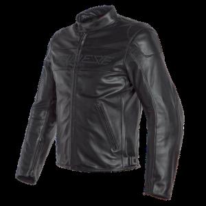 Dainese Bardo Leather Motorcycle Jacket - Black