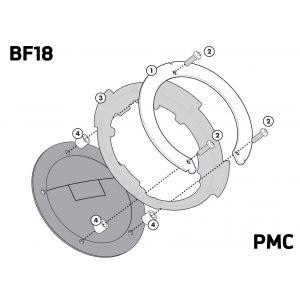Givi BF18 Tank Lock Ring - Suzuki GSX S1000 / DL 1000 V-Strom