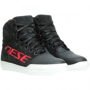 Dainese York D-WP Shoes - Dark Carbon / Red