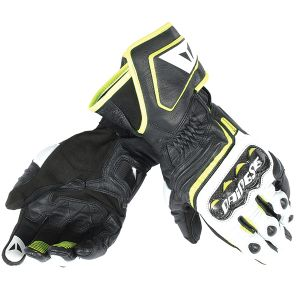 Dainese Carbon D1 Long Gloves - Fluo Yellow