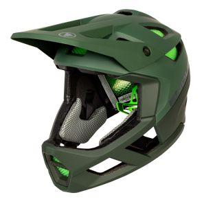 Endura MT500 Full Face MTB Helmet - Forest Green