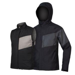 Endura Urban Luminite 3 in 1 Cycle Jacket II - Black