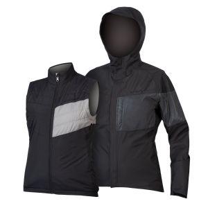 Endura Ladies Urban Luminite 3 in 1 Cycle Jacket II - Black