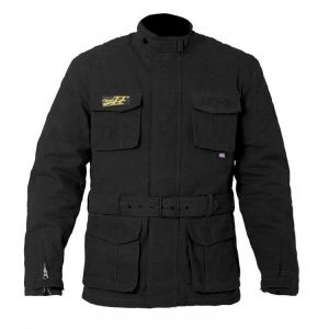 RST IOM CLASSIC TT WAX II 3/4 MOTORCYCLE JACKET -  BLACK