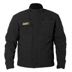 RST IOM CLASSIC TT WAX II SHORT MOTORCYCLE JACKET - BLACK