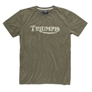 Triumph Vintage Logo T-Shirt - Khaki