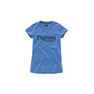 Triumph Vintage Logo Ladies T-Shirt - Blue