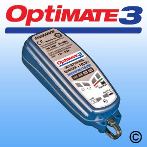 OptiMate 3 - 12v Battery Charger, Optimiser and Maintainer
