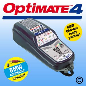 OptiMate 4 - 12V Battery Charger for BMW CANbus