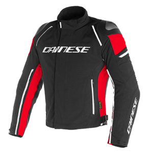 Dainese Racing 3 D-Dry Motorcycle Jacket - Black / Red