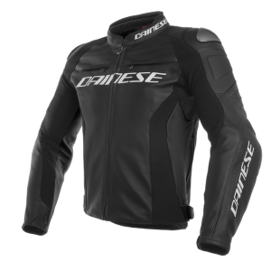 Dainese Racing 3 Leather Motorcycle Jacket - Black