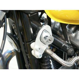 Triumph Scrambler Ignition Relocation Kit - Silver