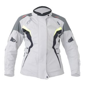 RST Gemma Ladies Jacket - Silver /Flo Yellow