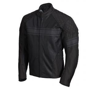 Triumph Waldron Mesh Textile Motorcycle Jacket - Black