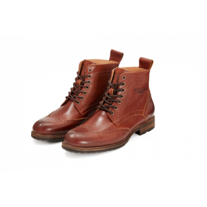 Triumph Hardwick Brogue Brown Leather Cruiser/Classic Motorcycle Boot