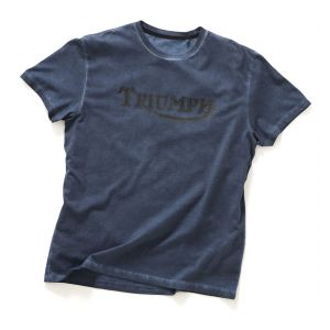 Triumph Dime Vintage Logo T-Shirt - Blue