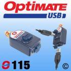 OptiMate Dual USB Charger 3300mA - DIN Plug - Straight